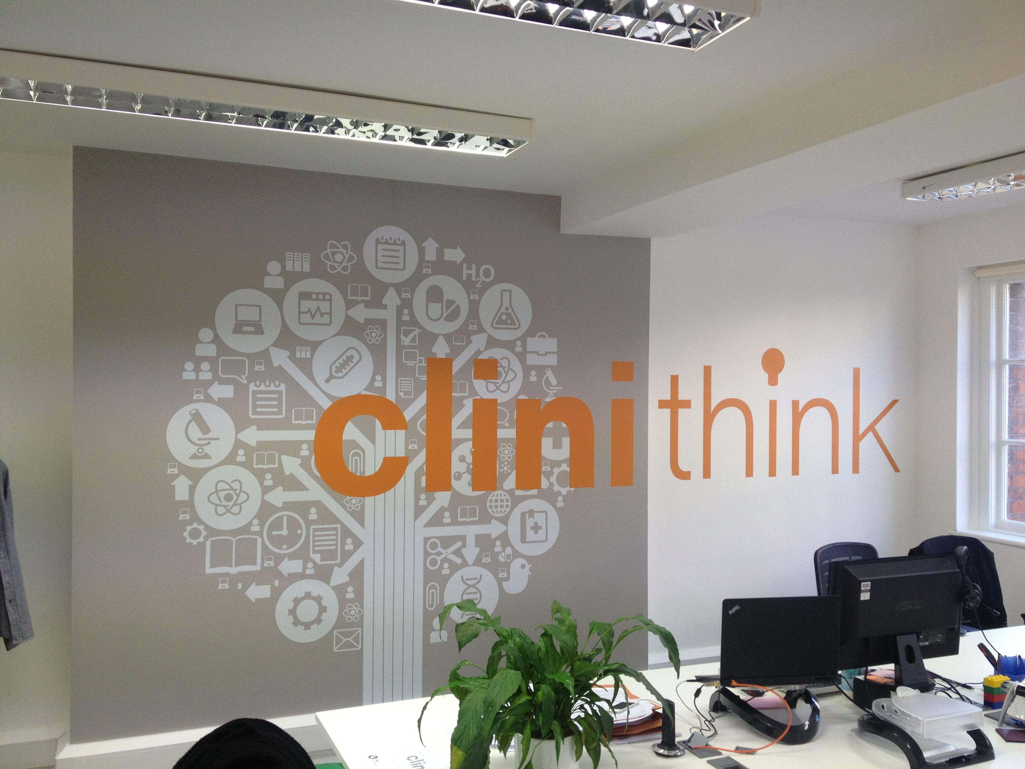 Office Wall Graphics And Office Branding With Environmental - Custom vinyl window stickers uk