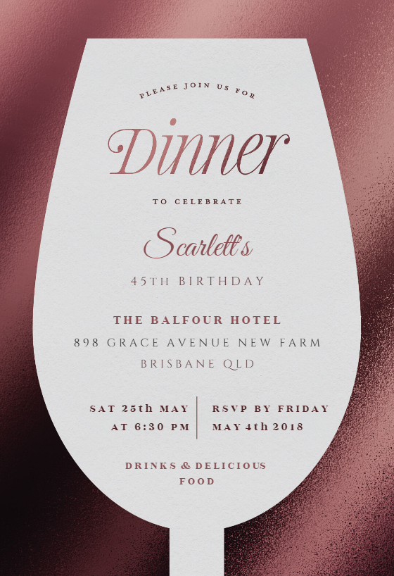 Wine Glass Dinner Party Invitation Template Free Greetings Island Party Invite Template Wine Invitations Dinner Party Invitations