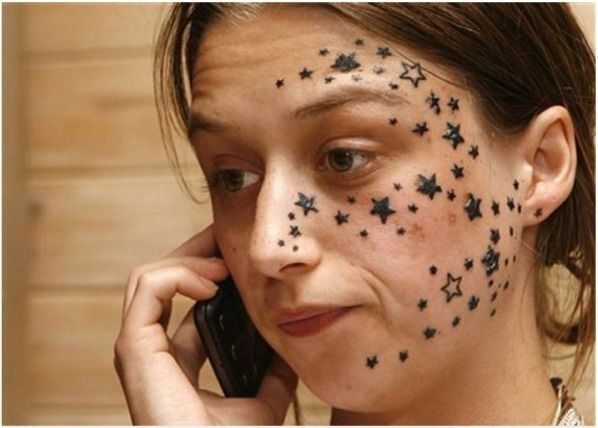 Worst face tattoos ever face tattoos that have gone so for Face tattoos gone wrong