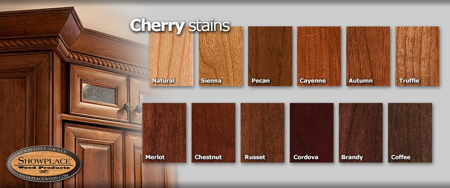 cabinet woods and finishes from showplace cherry merlot or rh pinterest com