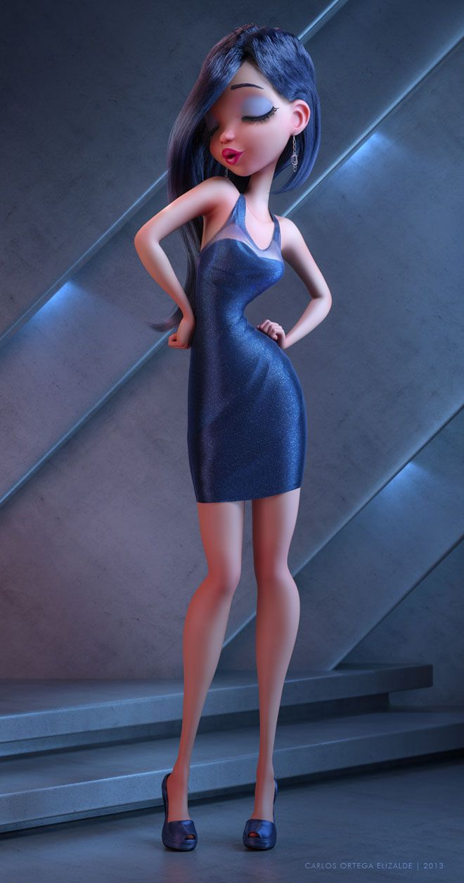 25 Beautiful Fantasy 3D Models and Character designs by
