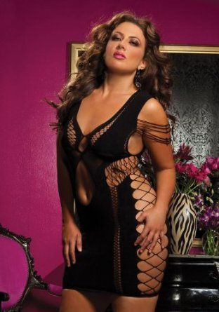 Plus Size Flirtatious Seamless Stretchy Dress