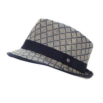 ffff2b0da Baker by Ted Baker Boy's navy woven trilby hat- at Debenhams.com ...