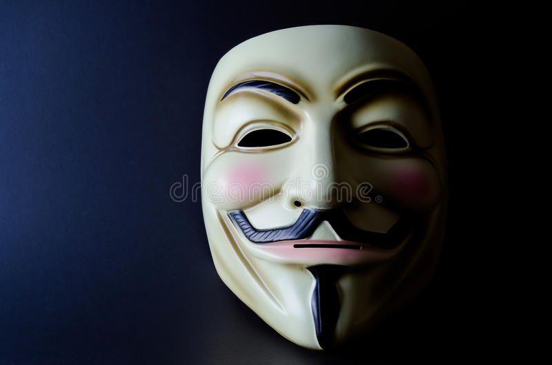 Guy Fawkes Mask Split Lighting Guy Fawkes mask on black background with mask li