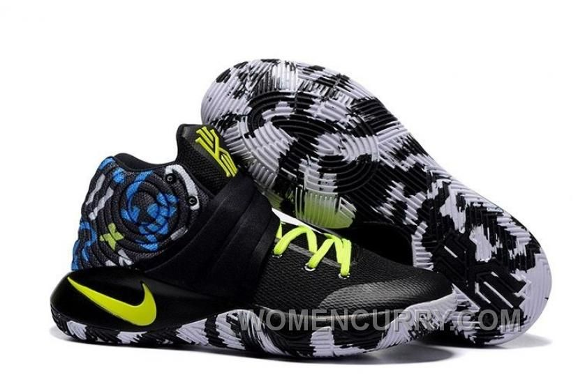 "buy popular 4306c af4c7 Nike Kyrie 2 ""Camo"" Black Neon Green Mens Basketball Shoes Top Deals Z73GQ  in 2019   Nike Kyrie 2   Green basketball shoes, Nike kyrie, Cheap nike  running ..."