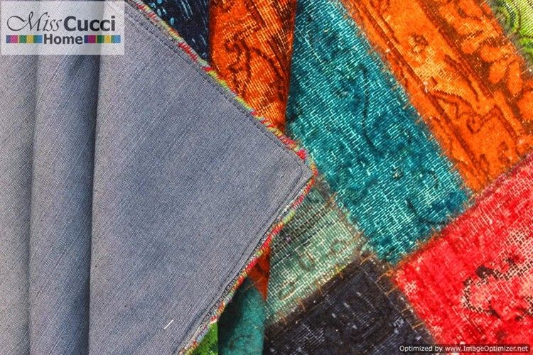 Handmade Woolen Patchwork Carpet HandmadePatchwork