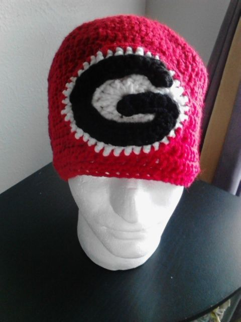 Crochet University of Georgia Bulldogs Hat acrylic yarn  453c4b78d
