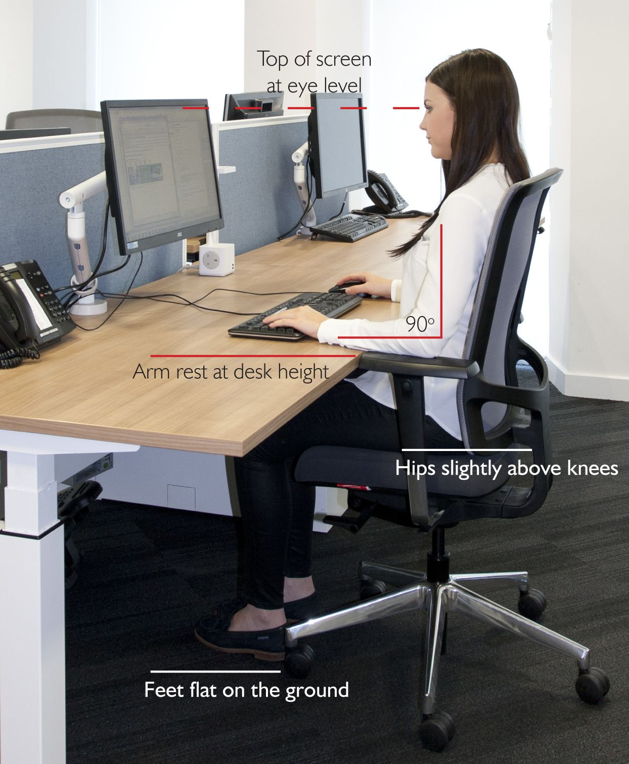 What Is The Standard Desk Height For Best Posture And Ergonomics Desk Height Standard Desk Height Desk