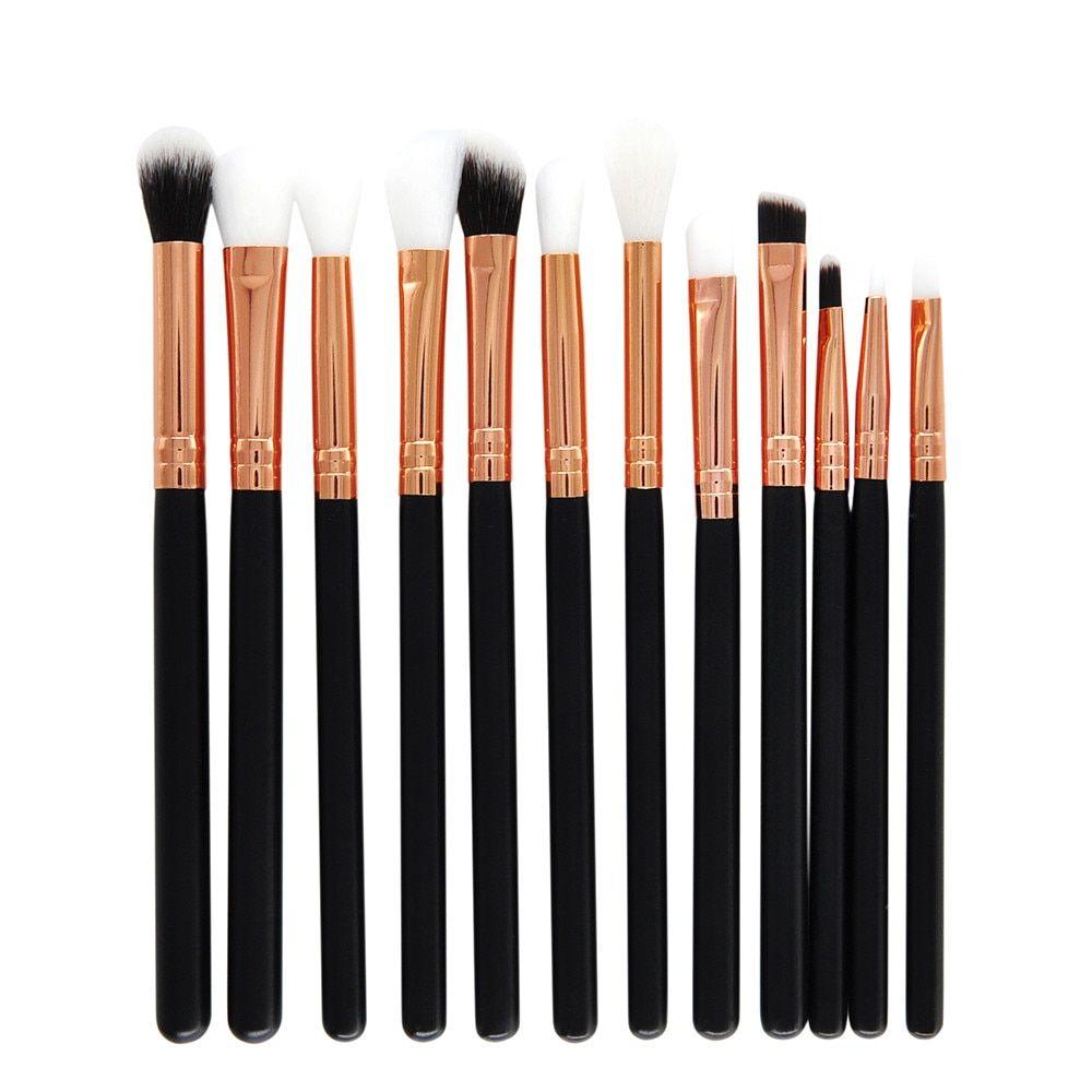 12 Teile Make-Up Pinsel Set Professionelle Gesicht Lidschatten Eyeliner Foundation Erröten Pincel Maquiagem Pinceaux Maquillage – b,china