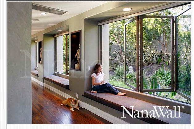 Nana Wall Systems - or instead of a patio door? window seat & Nana Wall Systems - or instead of a patio door? window seat ...