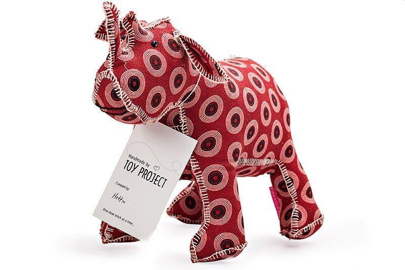 Buy toy project handmade rhino online faithful to nature