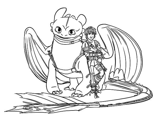 Hiccup And Toothless Are Bestfriend In How To Train Your Dragon Coloring Pages Coloring S Dragon Coloring Page How Train Your Dragon How To Train Your Dragon