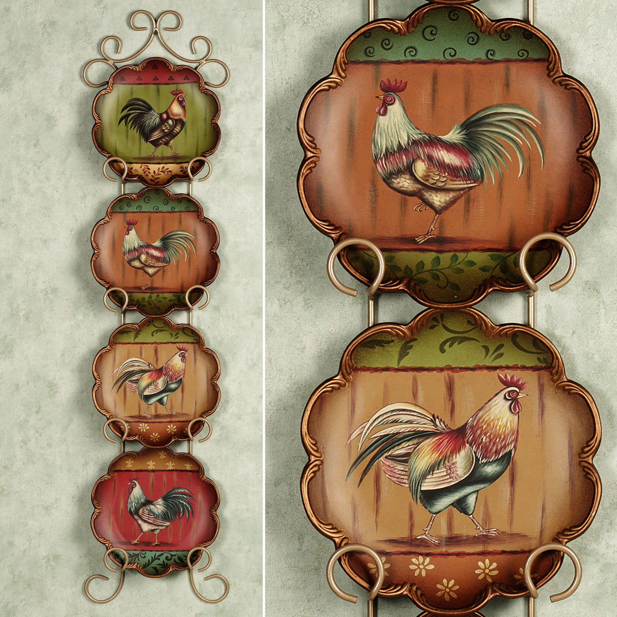 decorative plates and racks touch of class farm animals