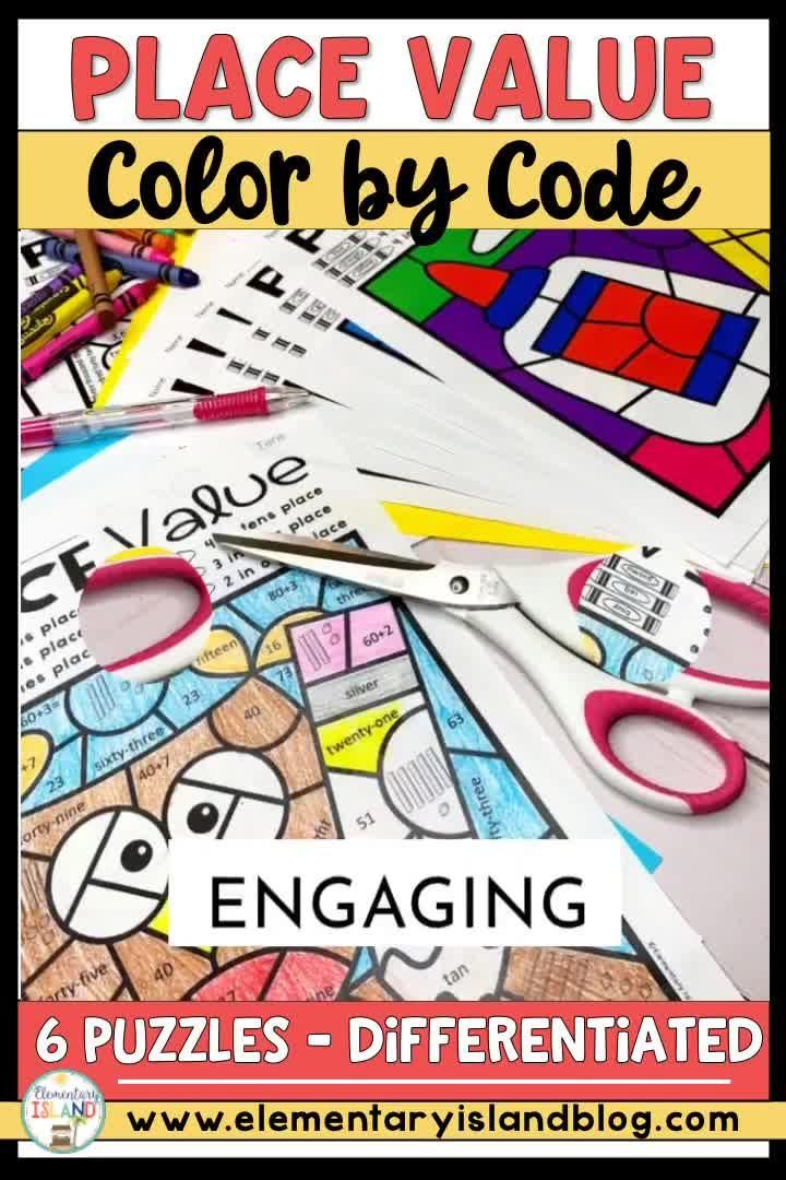 Place Value Worksheets | Place Value Activities Color by Code Worksheets
