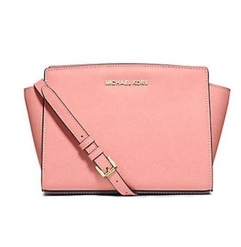 23f4350ec NEW AUTHENTIC MICHAEL KORS Selma Medium Messenger Crossbody Purse Tote Pale  Pink stores.ebay.