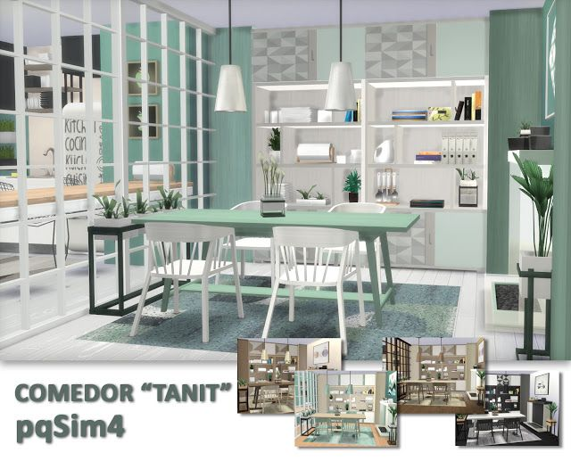Sims 4 Cc S The Best Dining Room Tanit By Pqsim4 Sims 4 Cc