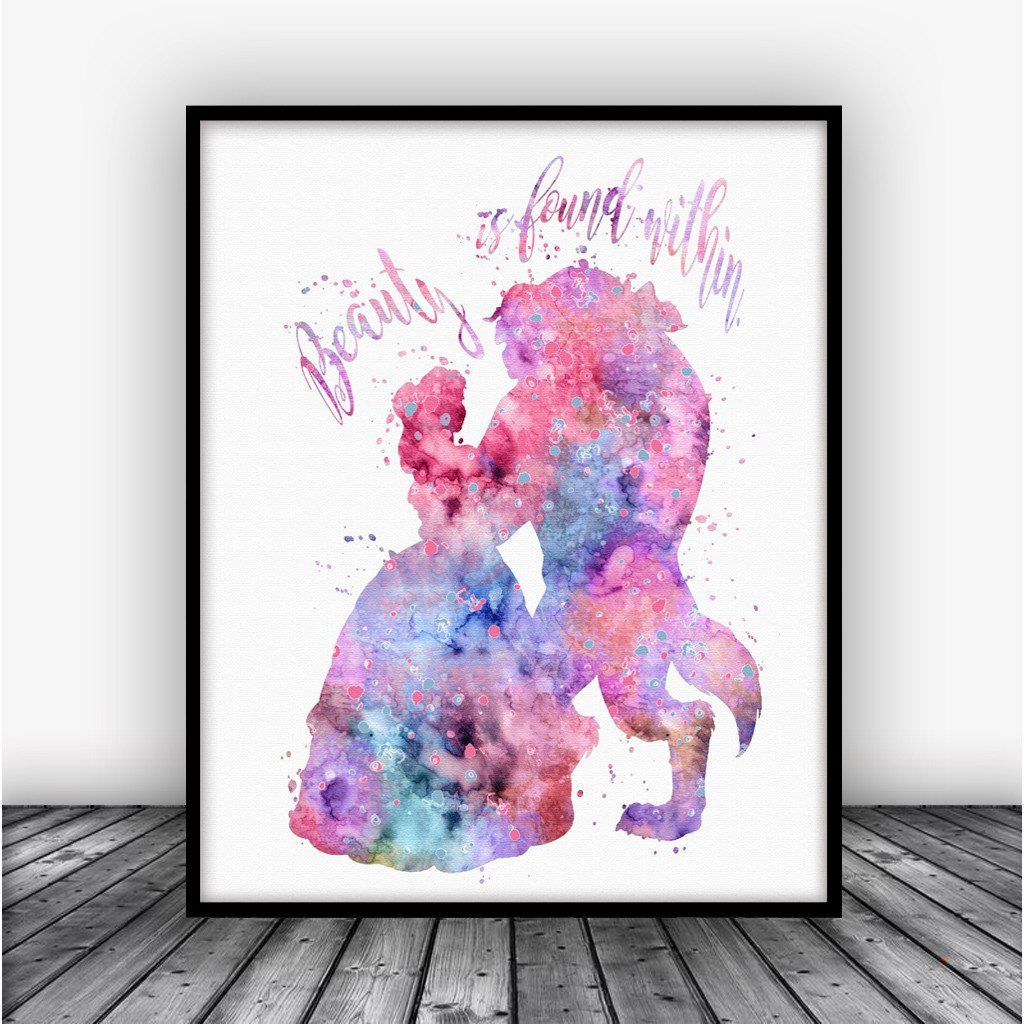 Beauty and the beast quote art print poster art prints