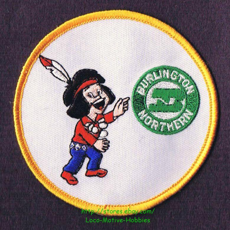 LMH PATCH Badge  BURLINGTON NORTHERN SANTA FE  Indian Brave Chief BNSF BN ATSF y picclick.com