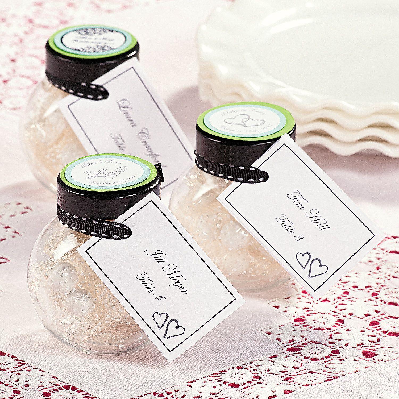 Favor Placecard Jars - OrientalTrading.com Great concept! Jars are ...