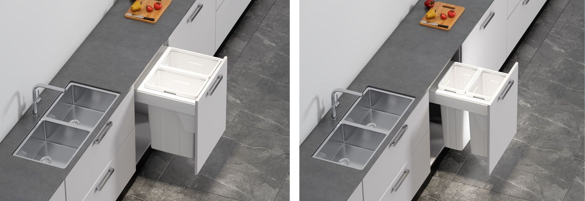 new waste bins and laundry hampers kaboodle kitchen in 2020 laundry in bathroom laundry on kaboodle kitchen storage id=30811