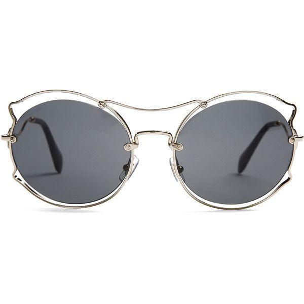 Ear Shaped Polyvore Miu Sunglasses On Hkd 2 Liked ❤ Cat 700 qxww4aO