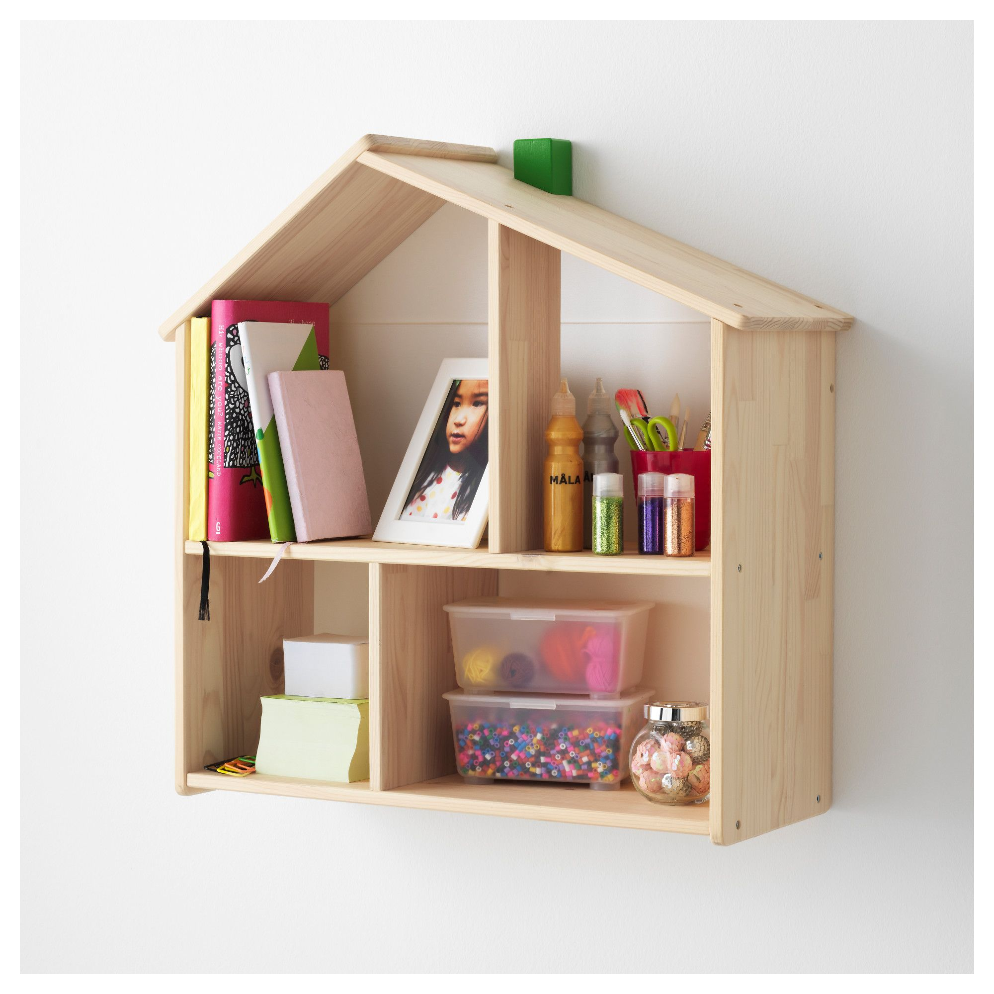 Ikea flisat doll house wall shelf sora s room wall for Casette in legno ikea