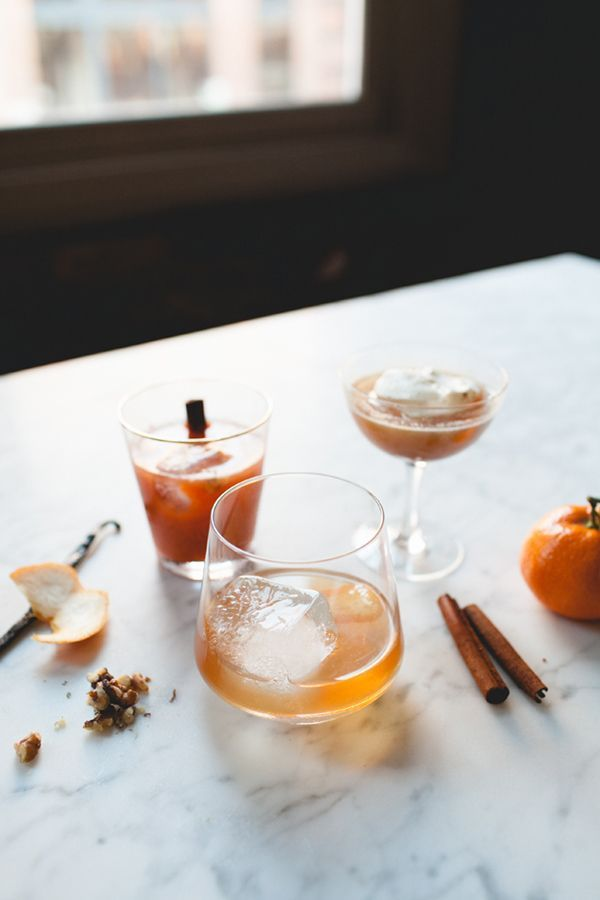 three whiskey winter cocktails