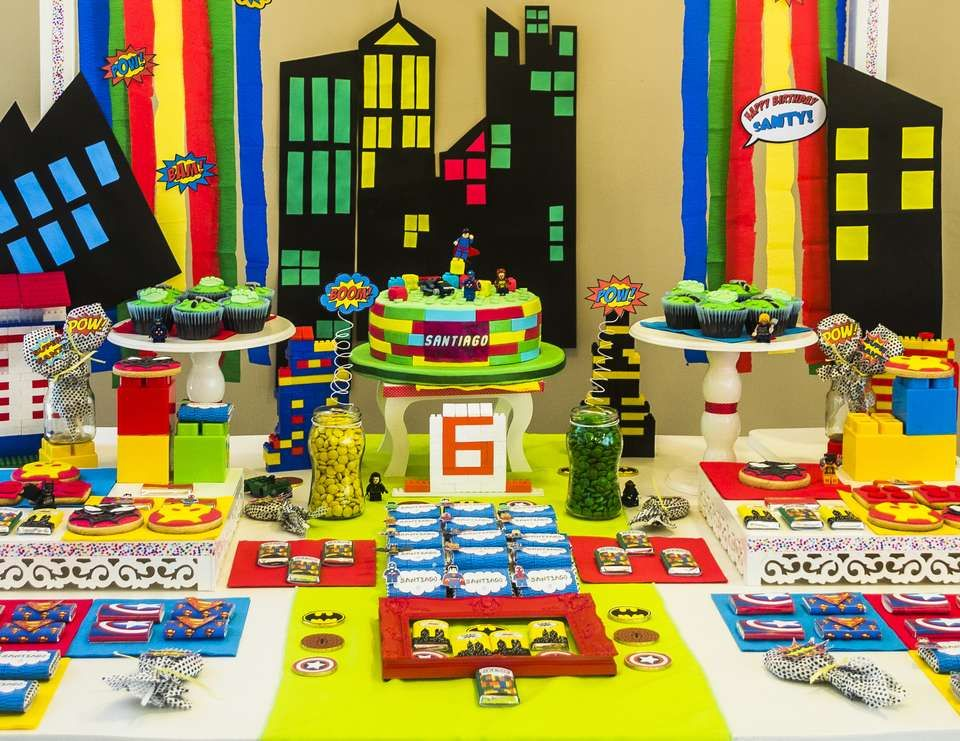 "Superheroes / Birthday ""Lego Superhero Party For Santy ..."
