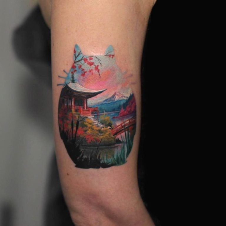 Photo of Beautiful Surrealist Double-Exposure Tattoos Mash Up People, Architecture & Nature – KickAss Things