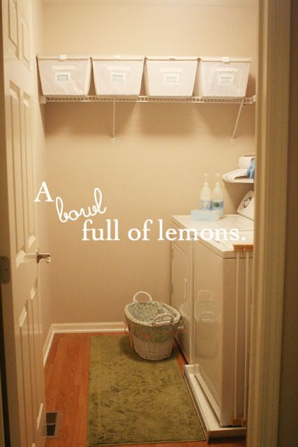 Day #10 ~ Getting Organized Challenge (Laundry Room/closet) | A Bowl Full of Lemons
