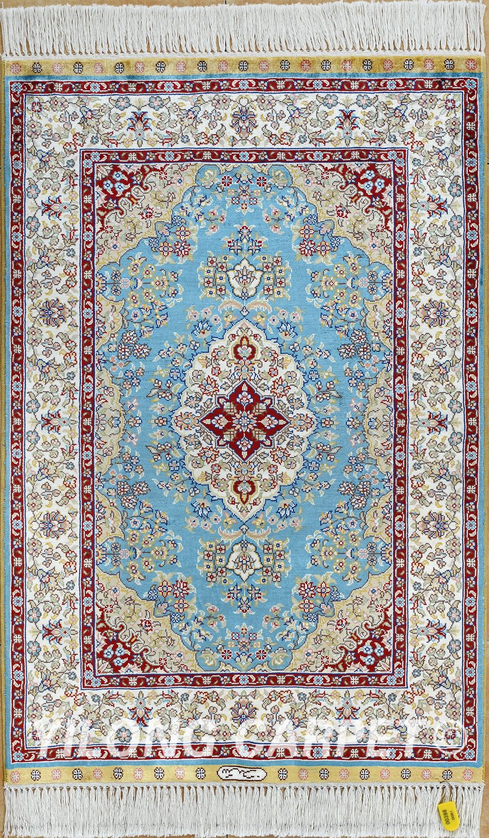 Persian rug Oriental Turkish carpet hand knotted silk rug Tabriz ...