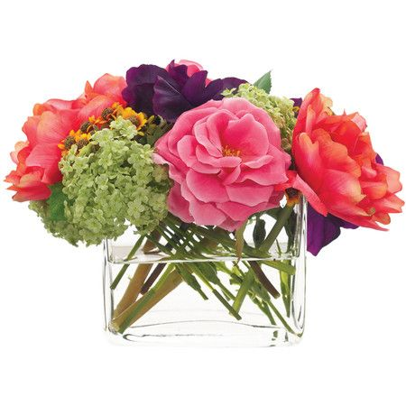 Faux floral arrangement from Natural Decorations Inc. Product: Faux floral arrangementConstruction Material: Po...