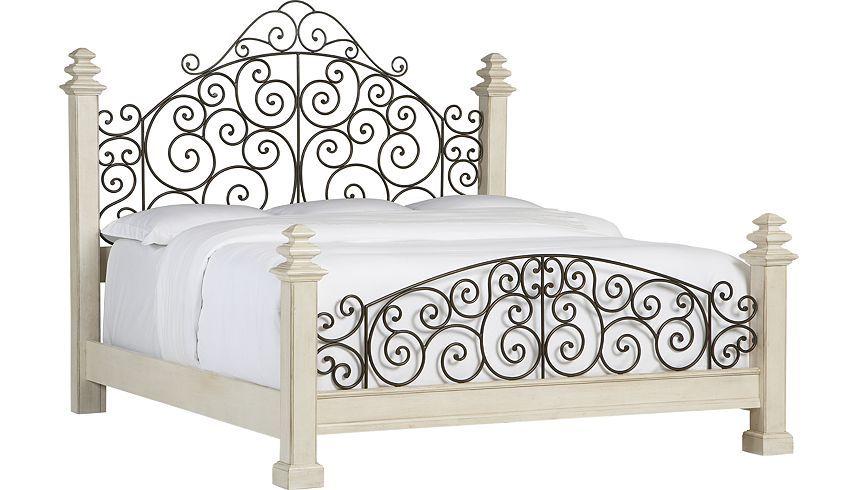Vintage Bedroom Furniture, Wood Wrought Iron Bedroom Furniture