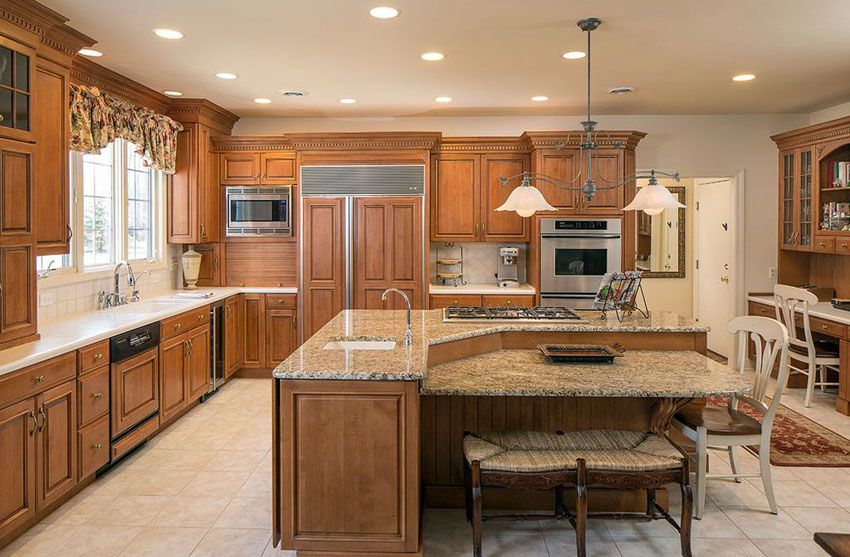 Beautiful Kitchen Islands with Bench Seating | Granite tops ...