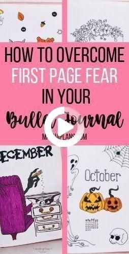 How To Overcome Bullet Journal First Page Fear | Planner stickers, Buj