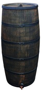 Regentonne regenfass weinfass wasserspeicher eichenfass wassertonne garten pinterest - Weinfass als gartenhaus ...
