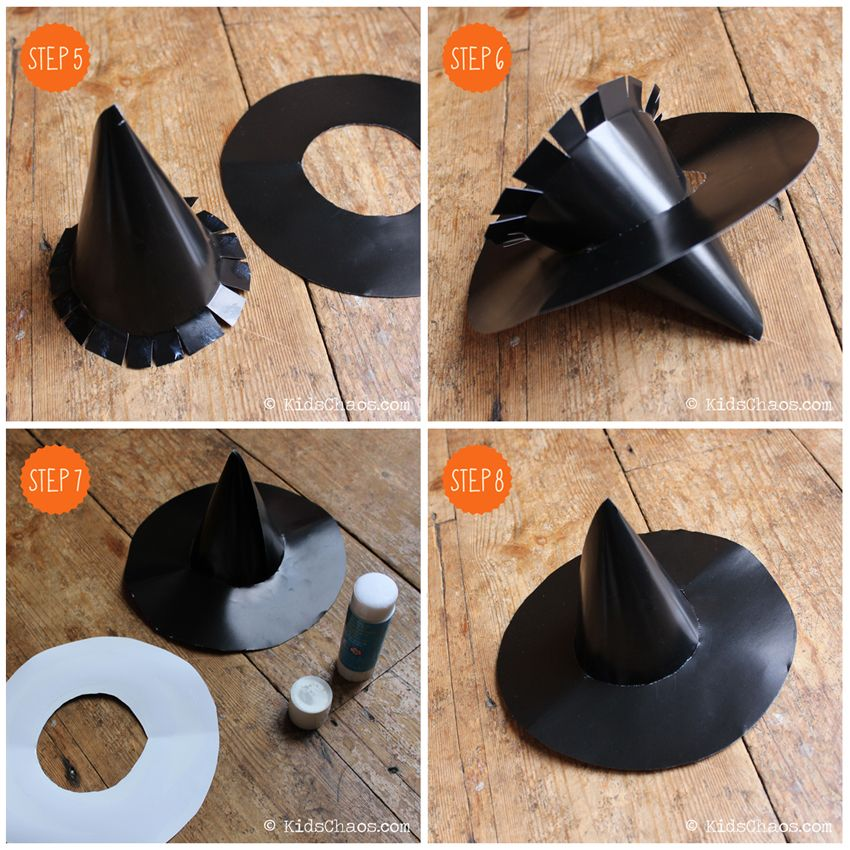 witches hat instructions Witch hat, Hat pattern, Hats