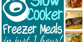 Slow Cooker Freezer Meals: Make 8 Meals in 1 Hour- these meals are actually FLAVORFUL compared to some freezer recipes- bonus!!