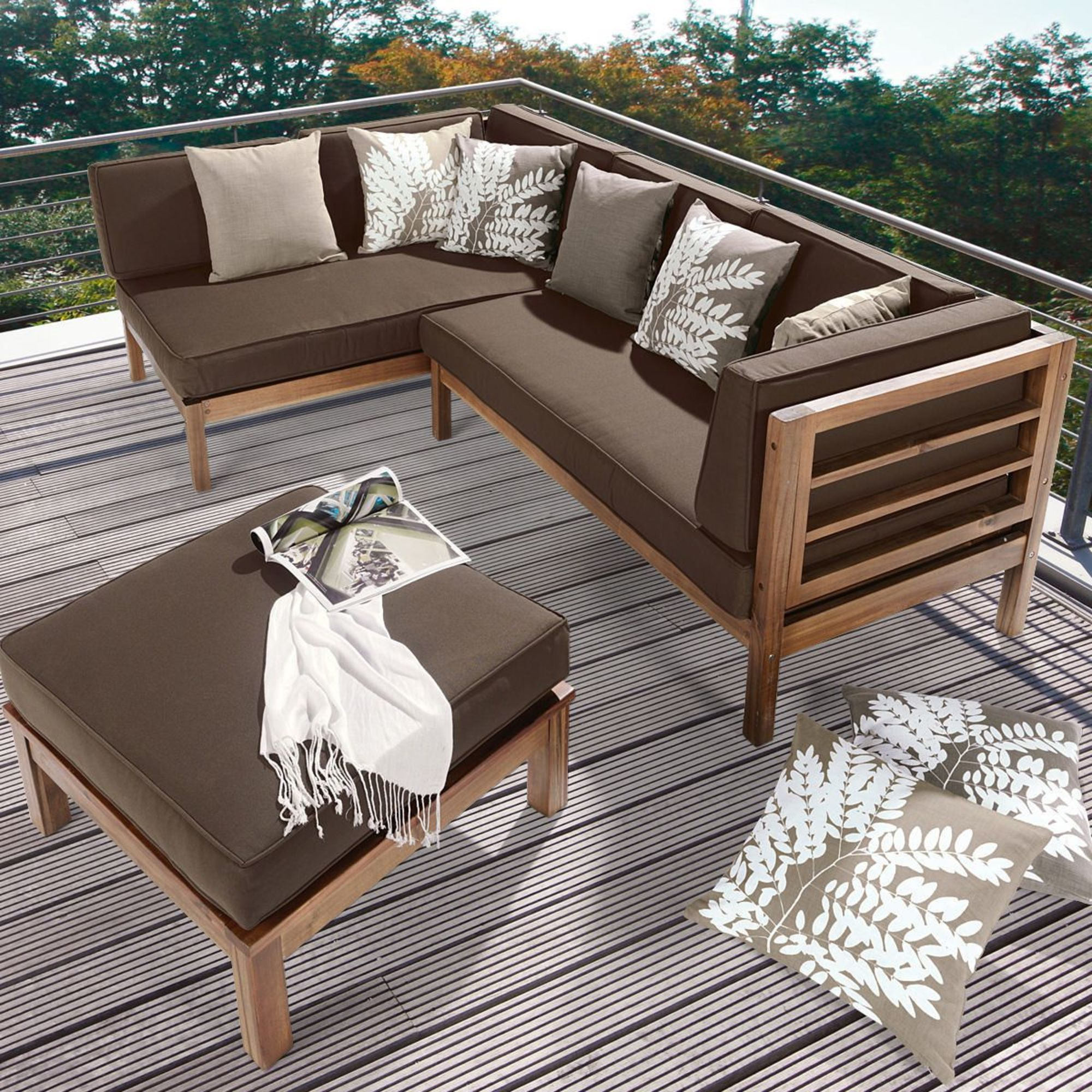 holz ecklounge 3 tlg gartenm bel sets gartenm bel. Black Bedroom Furniture Sets. Home Design Ideas