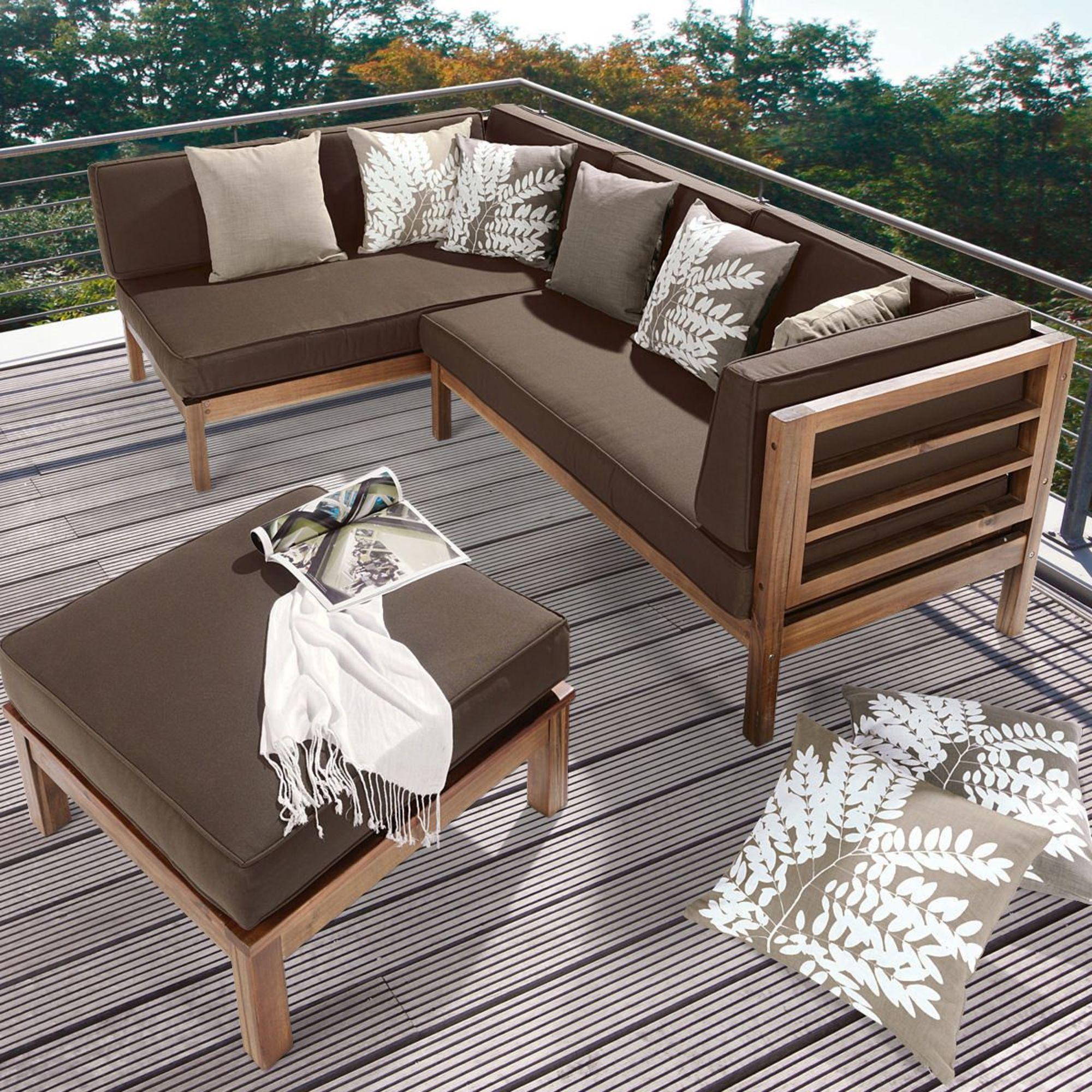 Balkonmöbel lounge holz  Holz-Ecklounge, 3-tlg. | Gartenmöbel-Sets | Gartenmöbel | Garten ...