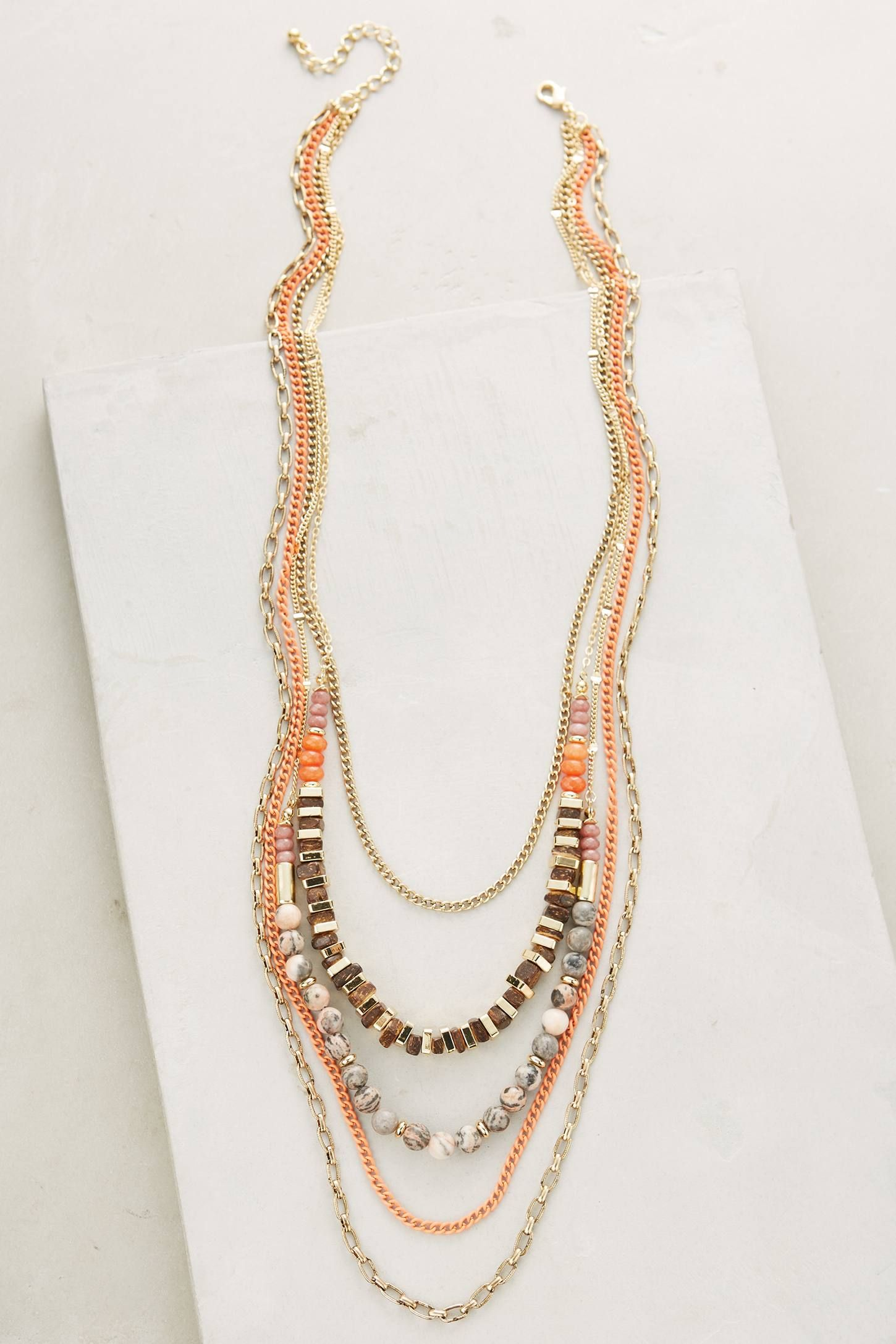 Sea Depths Layered Necklace - anthropologie.com