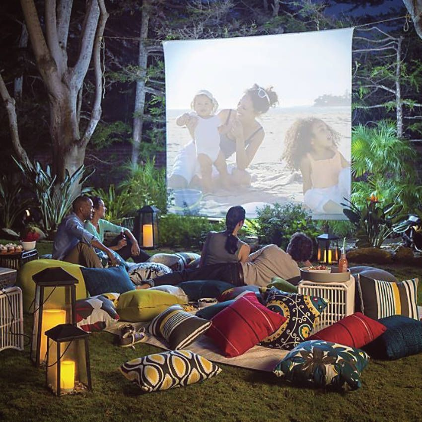 Incroyable How To Set Up Your Own Outdoor Movie Theater