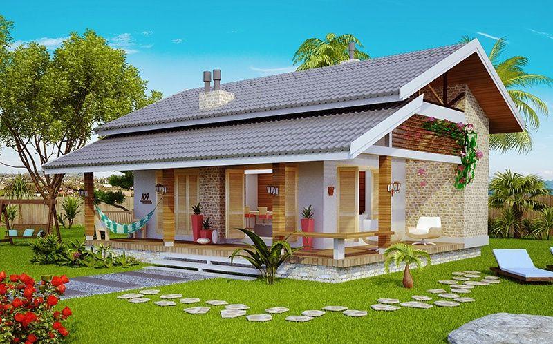 Conhe a este lindo projeto de casa pronto para construir modelo loft de praia ou campo veja - Construir casa de campo ...