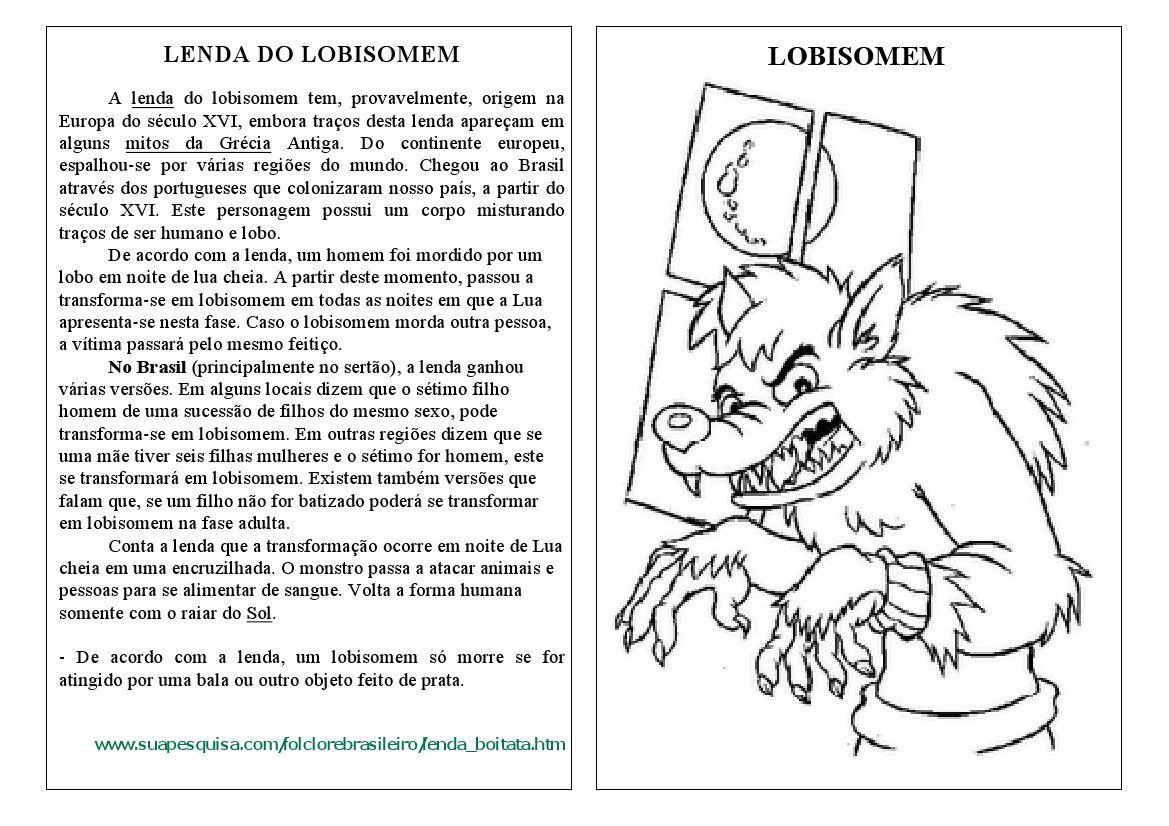 Varal De Atividades Folclore Lendas Lendas Lenda Do Lobisomem