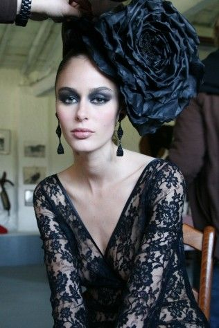 Black decadence ... flower and lace