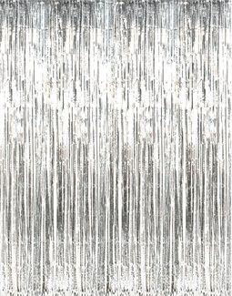 8 Silver Foil Fringe Door Or Window Curtain Curtain Fringe