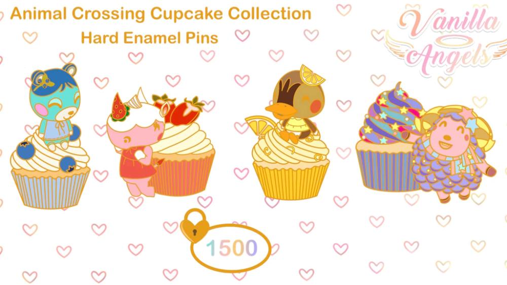 Cupcake pin button brooch