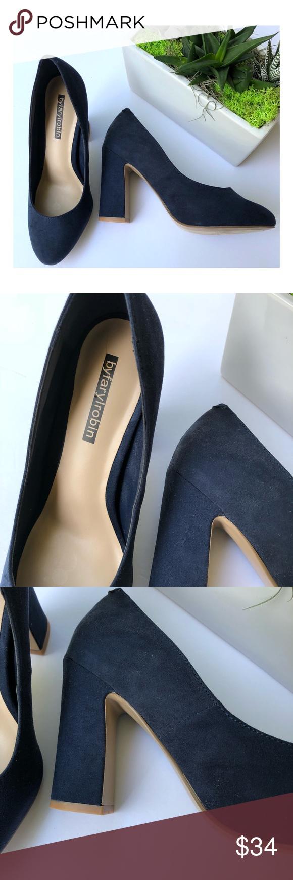 ef529a335e73 Faryl robin Stella Block Heel Almond Toe Pumps Women s by Farylrobin Stella  Block Heel Almond Toe Pumps Size 6 Farylrobin Shoes Heels
