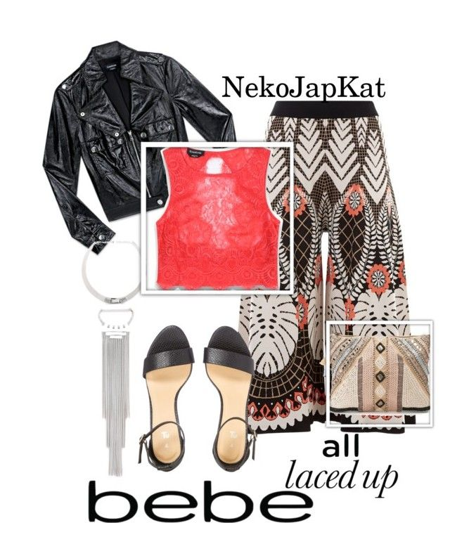"""""""All Laced Up for Spring with bebe: Contest Entry"""" by neko-m-tucker-smith ❤ liked on Polyvore featuring Bebe, Temperley London, BLANK and alllacedup"""