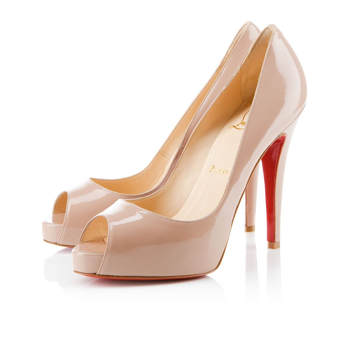 8299ce564e18 Christian Louboutin 120mm very prive nude patent leather